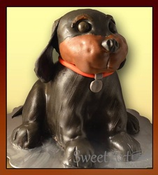 3D stand up doggy cake