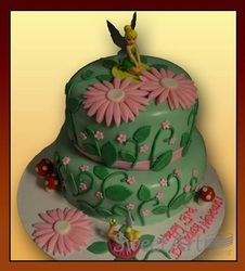 Tinker Bell two tier birthday cake
